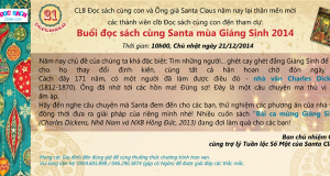 Thông báo: Buổi đọc sách cùng Santa mùa Giáng sinh 2014