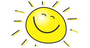 Bé Thảo và mặt trời