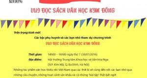 """Ngày hội """"Vui đọc sách văn học Kim Đồng"""""""