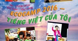Thông báo chương trình EcoCamp 2016 – Tiếng việt của tôi