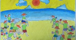 """Tranh vẽ đạt giải cuộc thi  """"EcoCamp trong tôi"""""""
