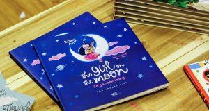 """Bay bổng cùng Bông An (Đọc """"The girl on the moon – Cô gái trên trăng"""" (Bông An, Nhã Nam & NXB Hội nhà văn, 2016)"""