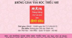 Giấy mời Ngày thơ Việt Nam – KHÔNG GIAN VĂN HỌC THIẾU NHI