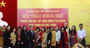"""Hội thảo Khoa học """"Trung tâm học tập cộng đồng ở Hà Giang"""""""
