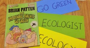 "Buổi đọc sách ""The impossibile parents go green"" (Brian Patten, Walker Books, 2001)"
