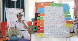 Giao lưu với thuyền trưởng Hà Nam Ninh