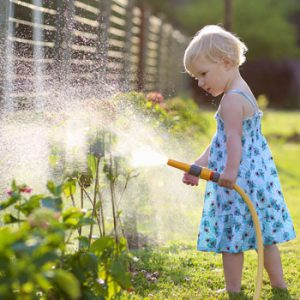 little-girl-watering