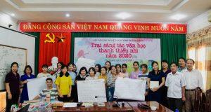 TSGD Nguyễn Thụy Ảnh chia sẻ tại trại sáng tác văn học thiếu nhi Thái Nguyên 2020